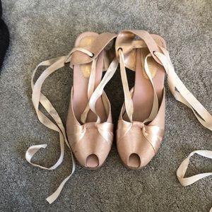 Montero Bay Wedge Ballerina Ankle Tie Espadrilles